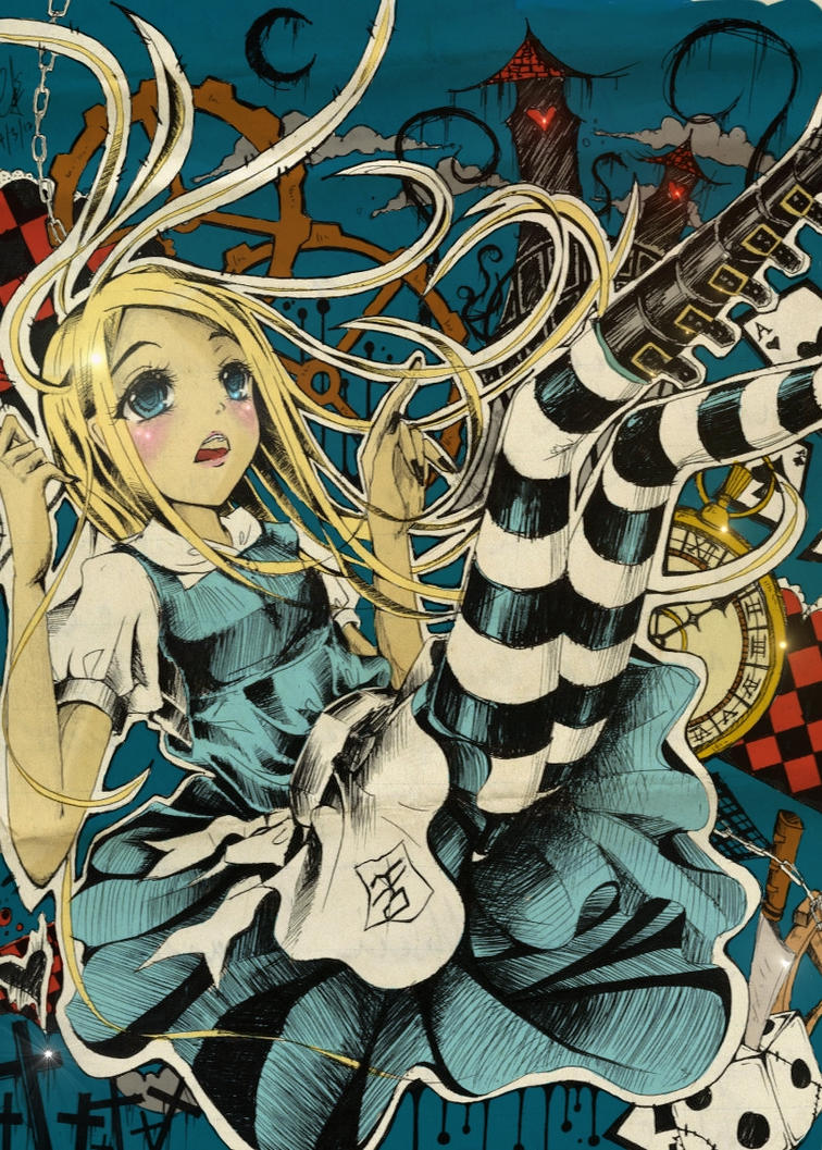 Pictures Of Alice In Wonderland Anime Falling Www Kidskunst Info