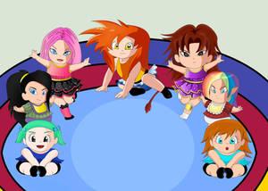 June, Kiara, Panty, and more Oc's by SaiyanGoddess