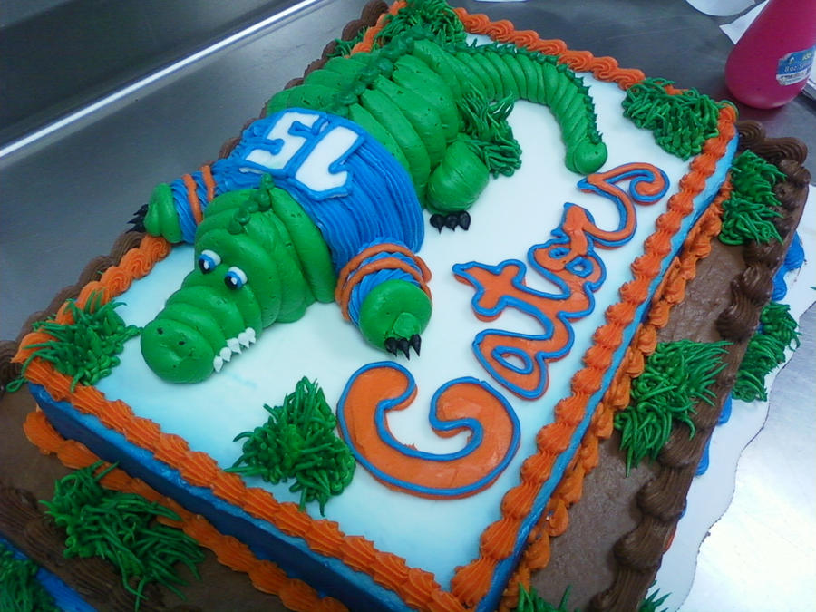 Two Tier Gator Grooms Cake By Christin Jernigan On Deviantart