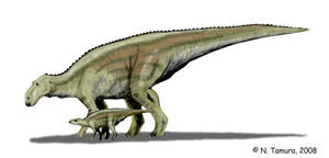 Maiasaura mother and son