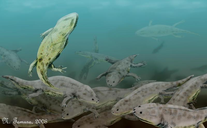 Metoposaurus assembly by NTamura on deviantART