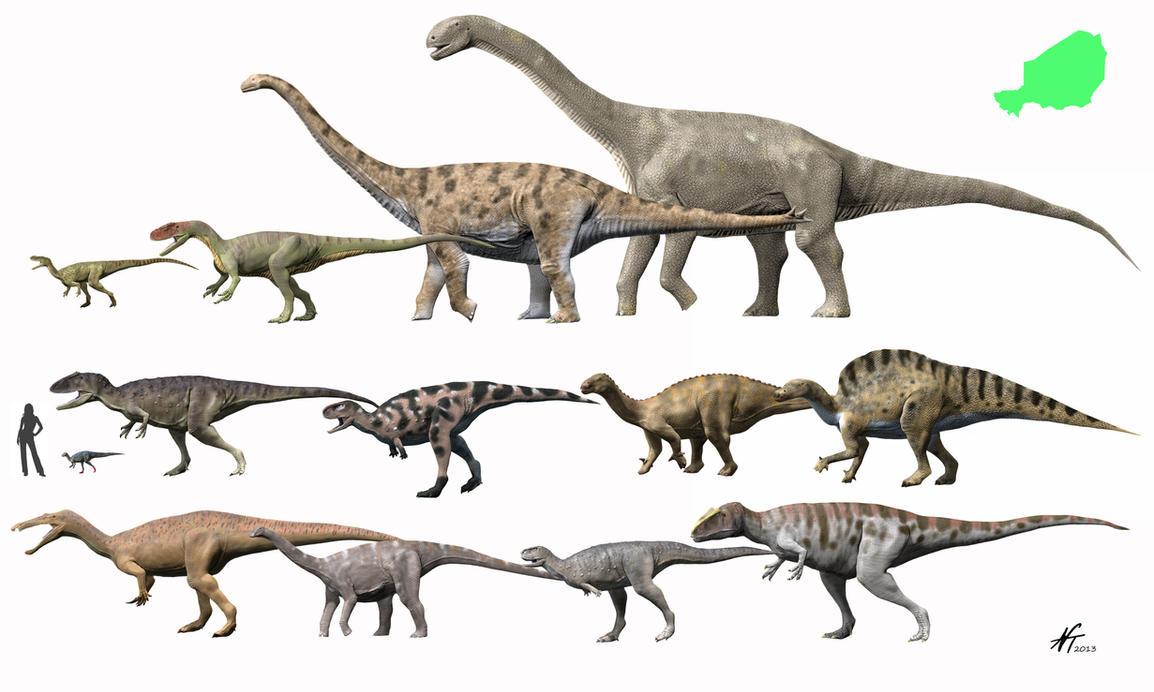Dinosaurs of Niger by NTamura