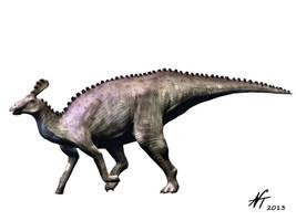 Tsintaosaurus by NTamura