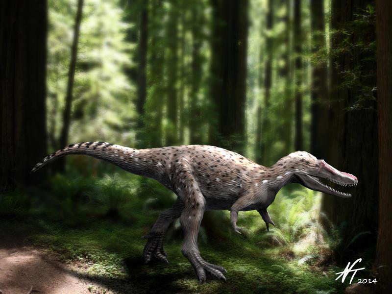 Qianzhousaurus by NTamura