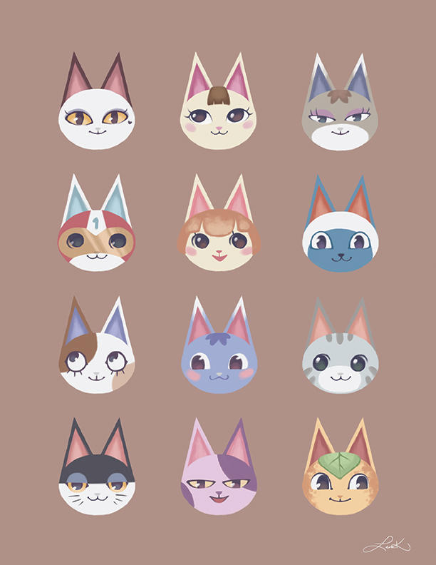 Animal Crossing Cat Villagers By Atrueenglishman On Deviantart