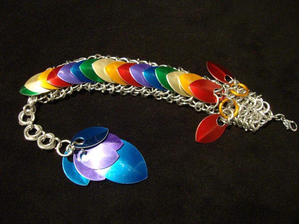 Chainmail Rainbow Dragon by xThe-Royal-Dragonx