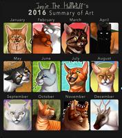 2016 Summary of Art by Jayie-The-Hufflepuff