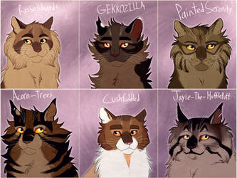 A Collection of Bramblestars by Jayie-The-Hufflepuff