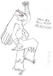 Blaziken sketch by BPMdotEXE