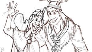 Olaf and Sven ( human version)