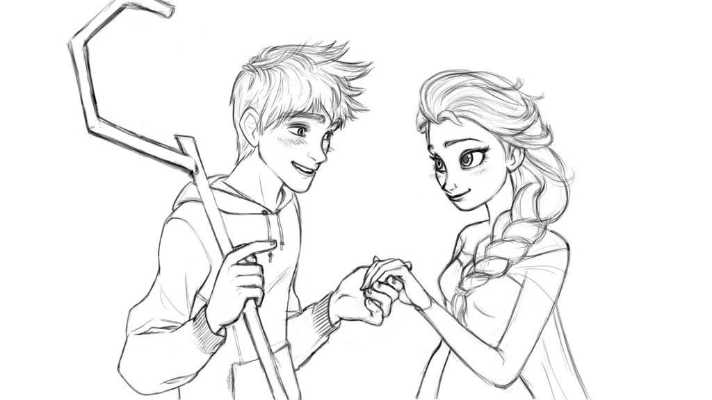 Elsa And Jack Coloring PagesAndPrintable Coloring Pages Free