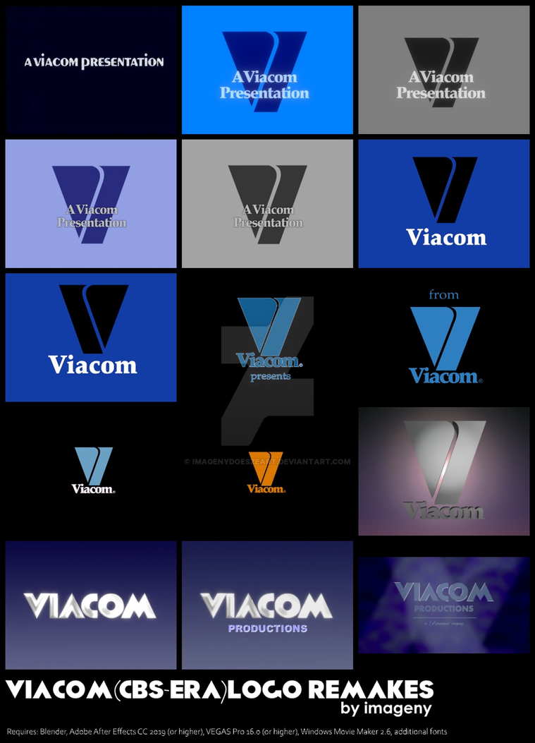 Viacom (CBS-era) logo remake package by ImagenyDoesZeArt on DeviantArt