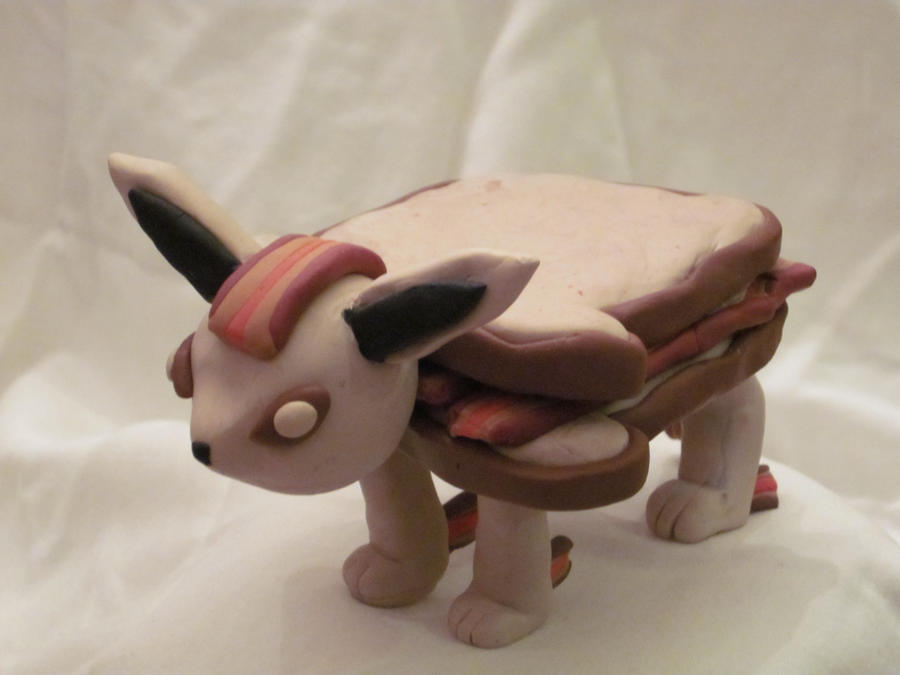 Eevee evolution: Bacon Sandwich by DoublerTrouble