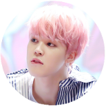 069 | Pink Jimin Circle Decor by MarytahDashPointBank