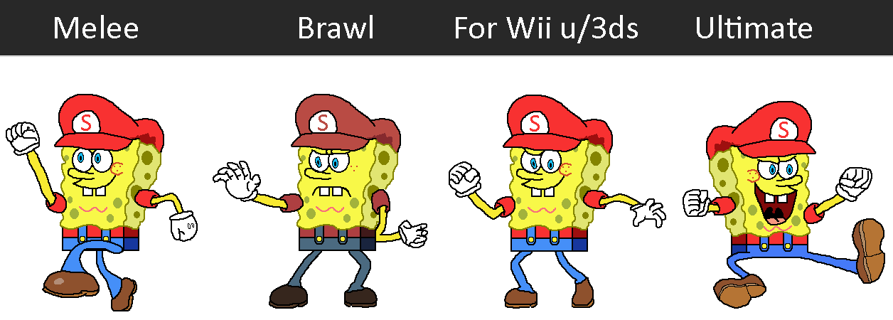 Melee To Ultimate: SpongeBob With Mario Stand