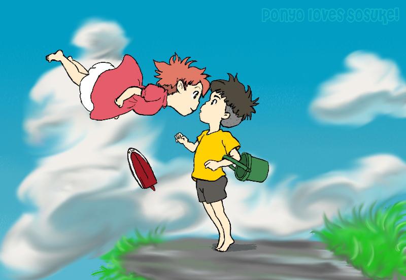 Ponyo Loves Sosuke by emaleexrose on DeviantArt