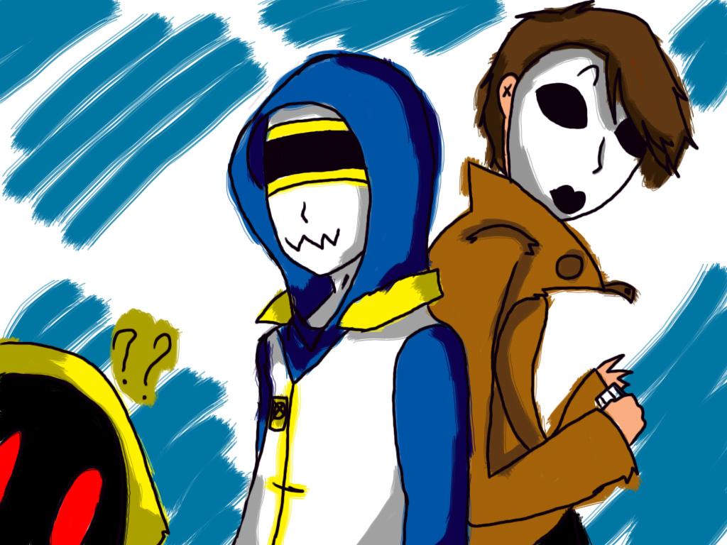 AT: Hoody ,Masky and Grafitti by Zelda-muffins