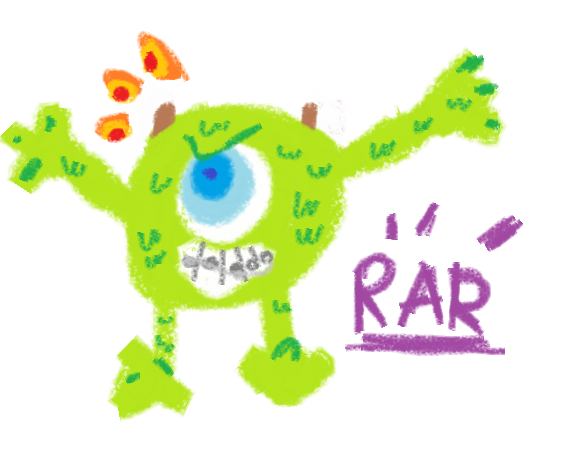 Fear the scarry monster Mike Wazowski by Zelda-muffins