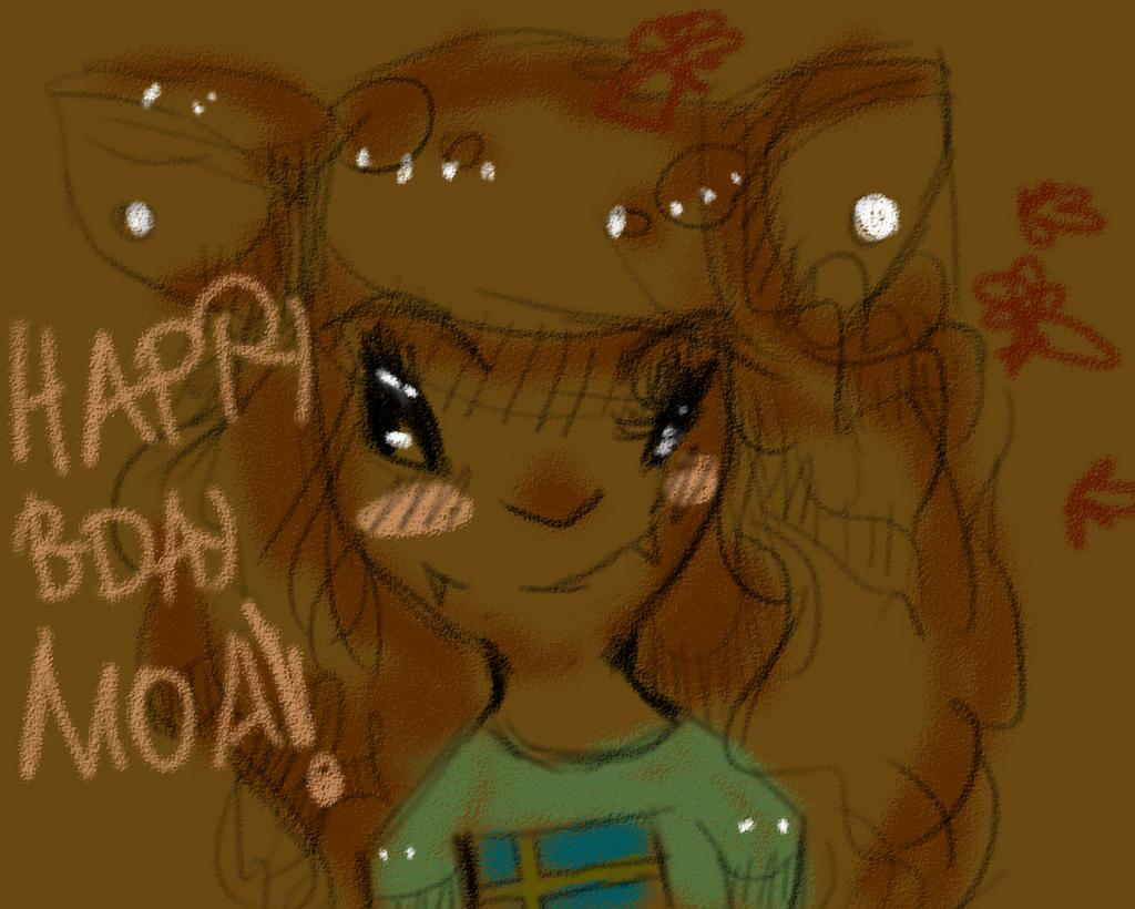 Happy burfday moa!!!! by Zelda-muffins