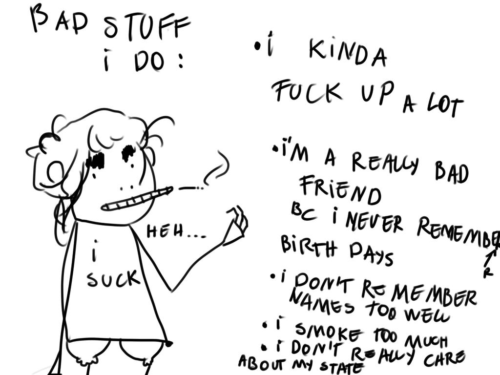 Bad Stuff I Do by Zelda-muffins