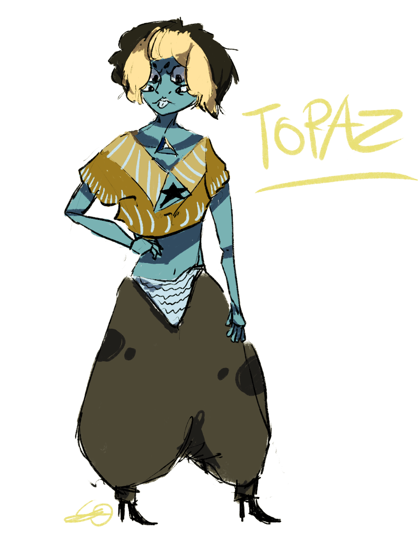 gemsona: Topaz by Zelda-muffins