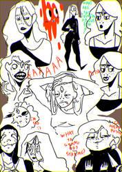 Emilia doodles by Zelda-muffins