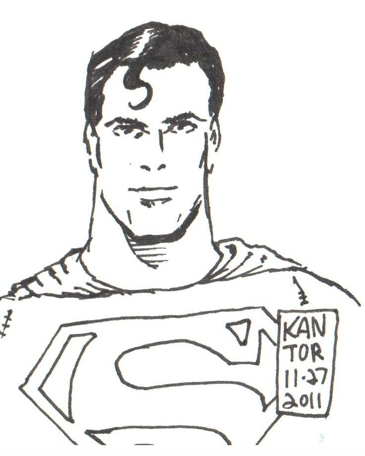 Superman Sketch Card b...