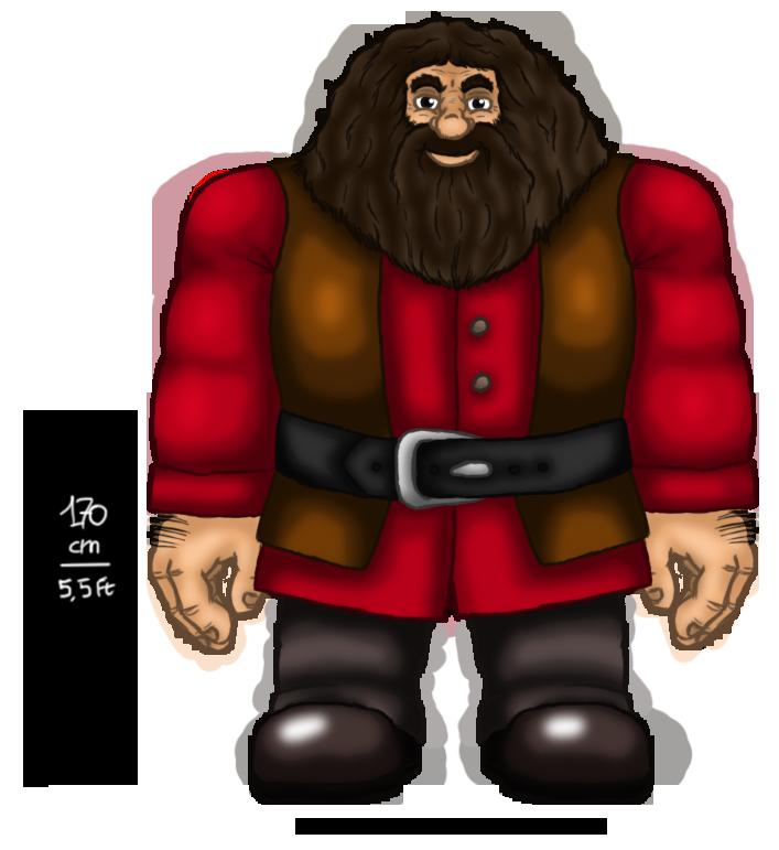 Fanart (HP) - Rubeus Hagrid by Kaitoraikan