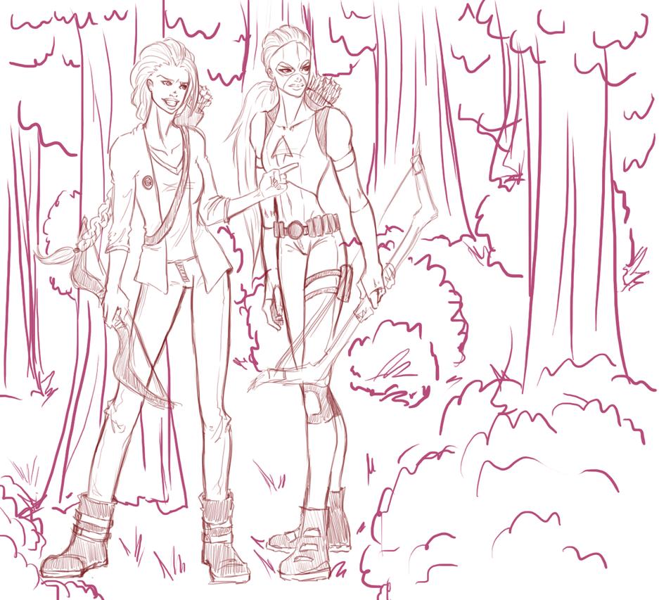 Famous Line Of Artemis : Katniss vs artemis lines by skydominic on deviantart