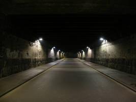 Rundown Street Tunnel at Night by CopperSaturday