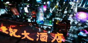 Neon Skyline by SuperBoomTurbo