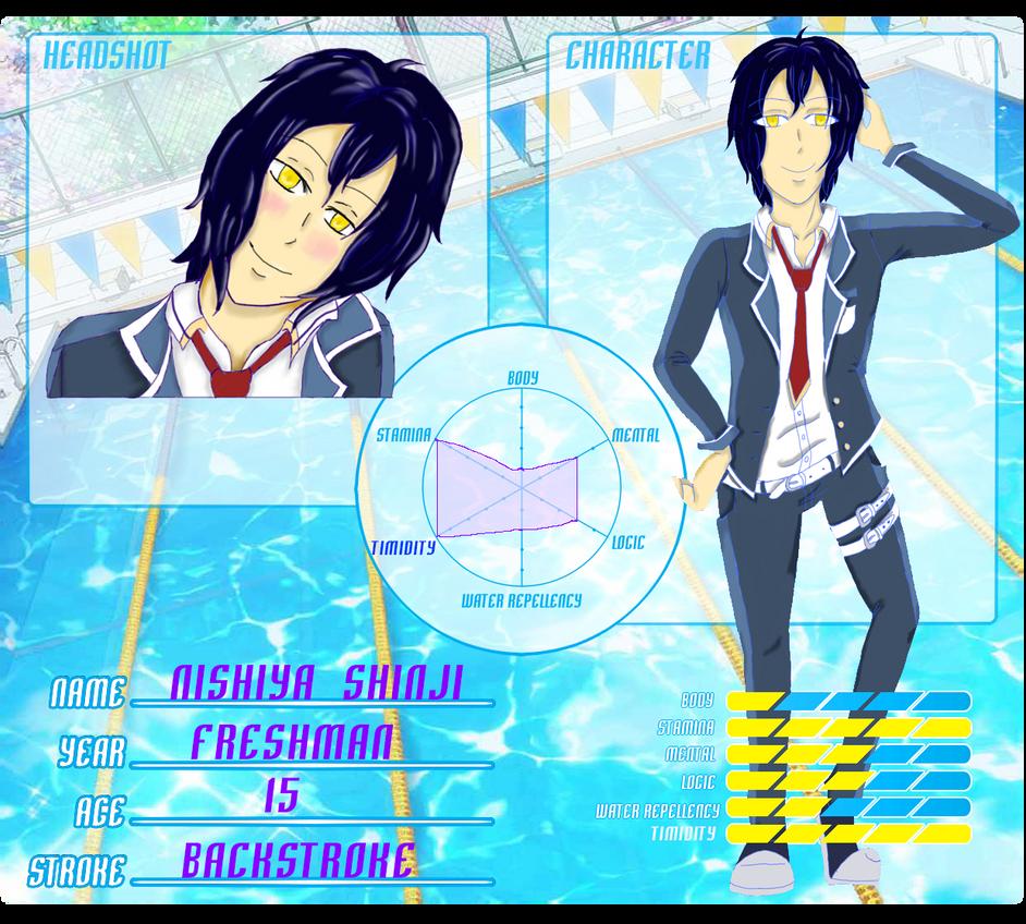 M-n-G app: Nishiya Shinji by PlottingYourDemise