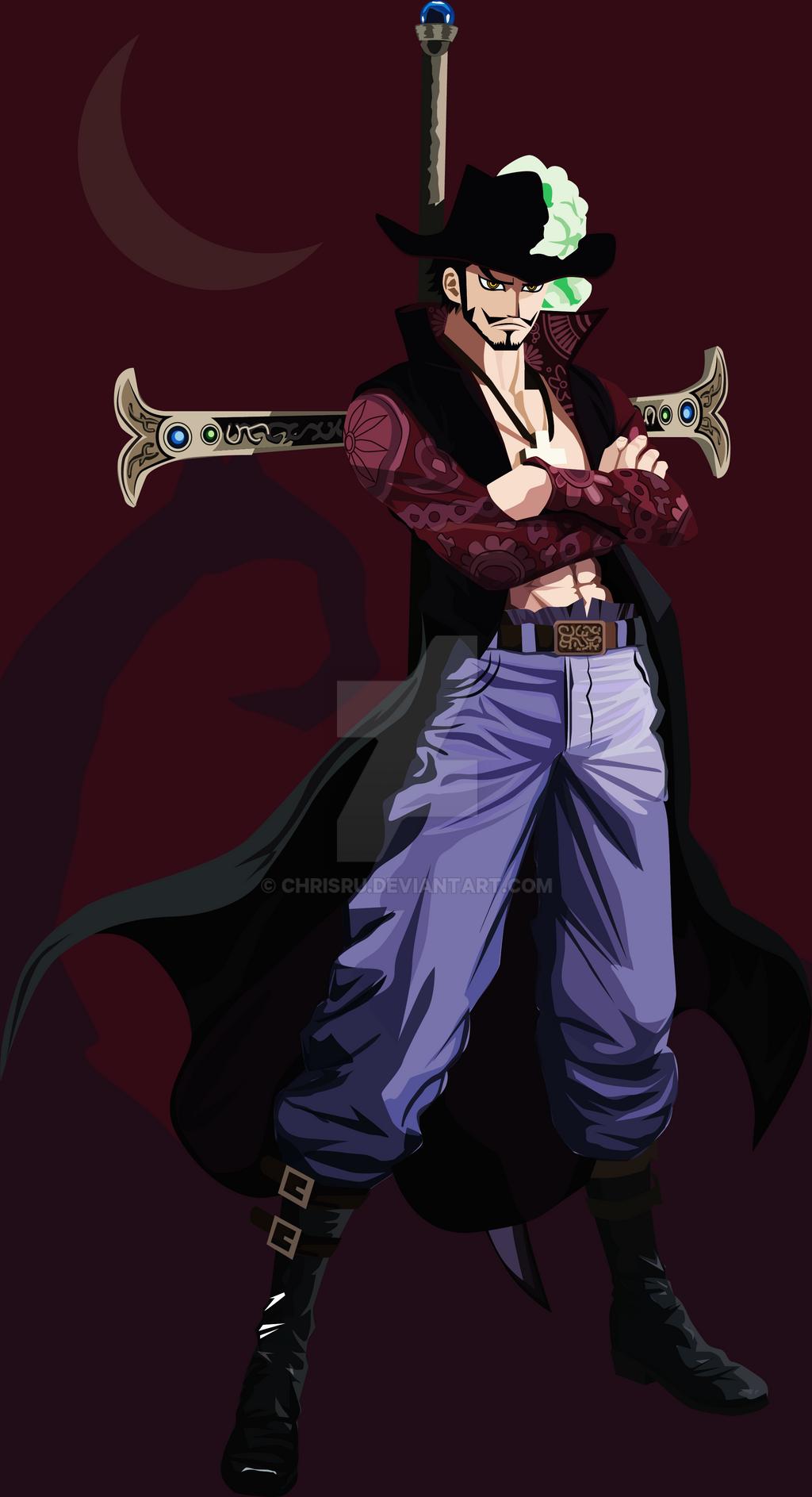 Dracule Mihawk (One Piece Fan art) by Chrisru on DeviantArt