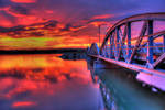 Bridge in the dusk by mariustipa