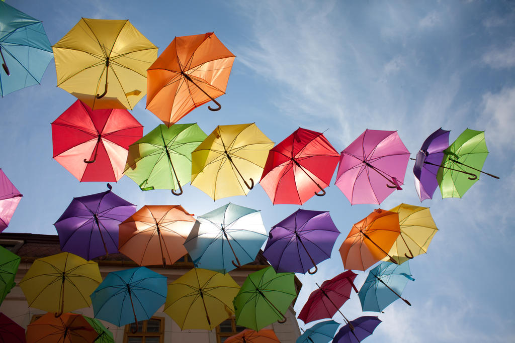Floating umbrellas by mariustipa