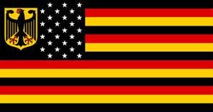 Fictional Germany USA Flag