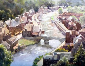 Dinan, Bridge by micorl