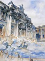 Fontana di Trevi by micorl