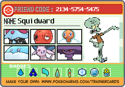 Squidward's Trainer Card by JohnOOFGuyGamer12457