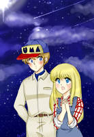 Harvest moon - starry night festival with Gray by AngieSan