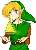 Link and the triforce shard - ALTTP by AngieSan