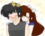 so cute - Ryoga and Ukyo