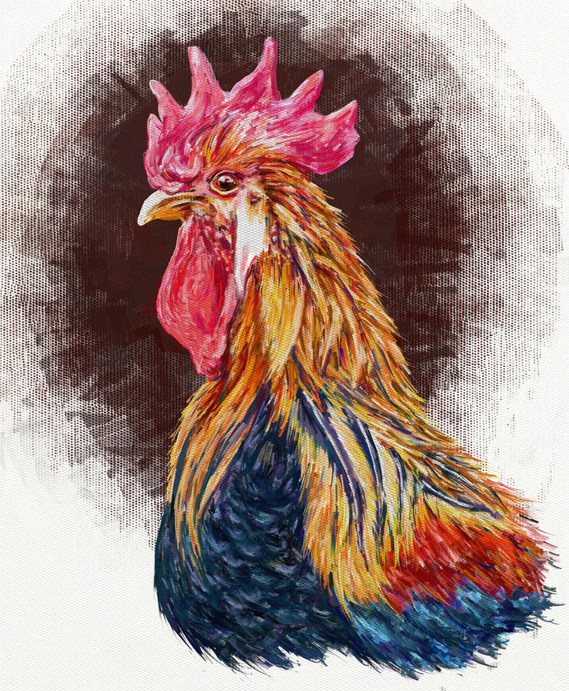 A Sketch Portrait Of A Rooster by digit-Ds