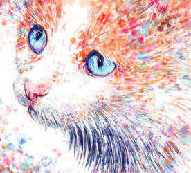 Watercolour Cat - Watercolour Brushes in Krita by digit-Ds