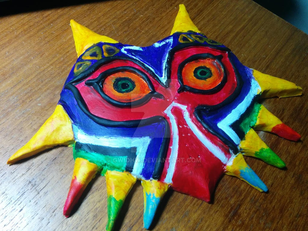 Misc. Fan Art~! Sculpture__majora_s_mask_by_gwidhw-d8vxyd1