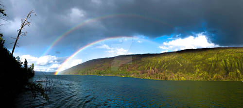 Double Rainbow - Loon Lake, BC, Canada