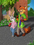 Nick and Judy. Zootopia