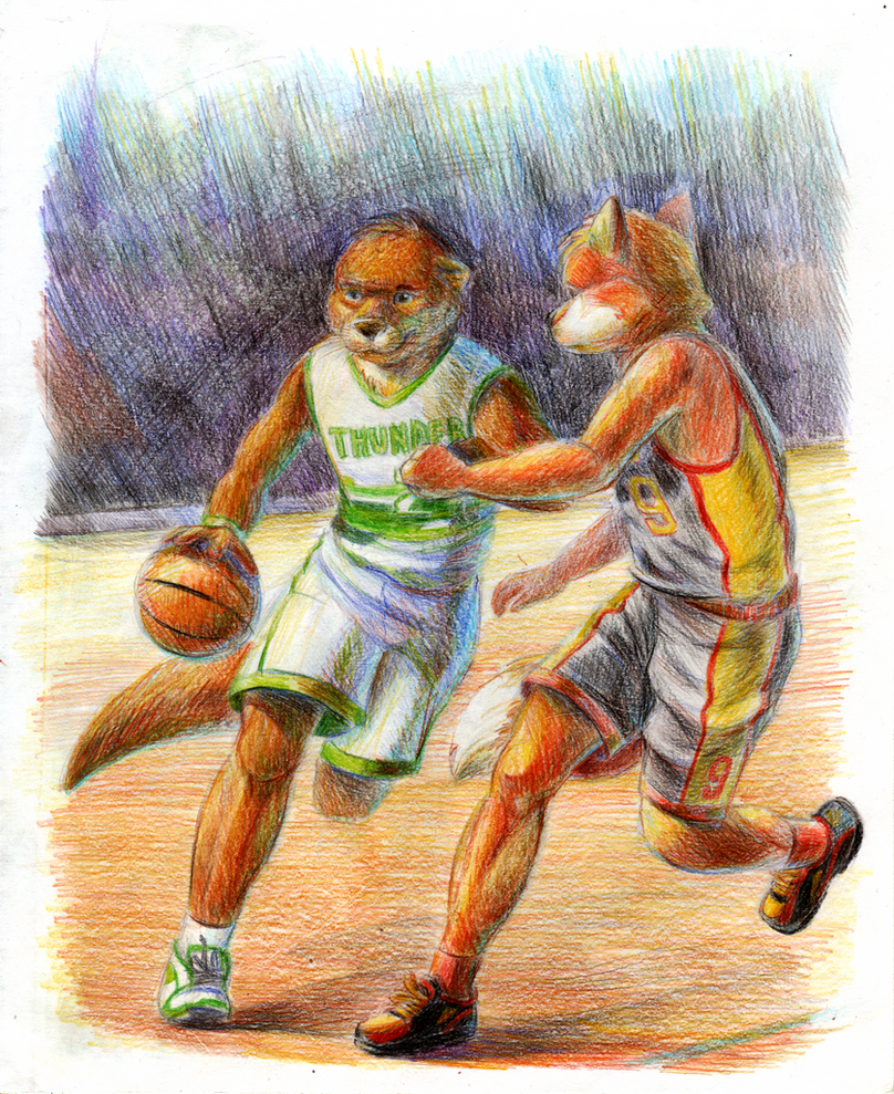 Basketball. Team Thunder vs team Outbreak by Leo-Artis