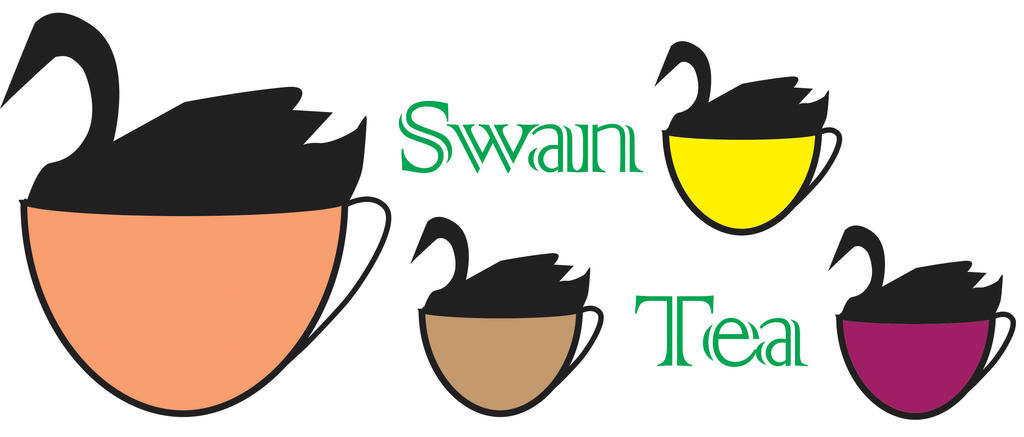 Swan Tea tee shirt design-2