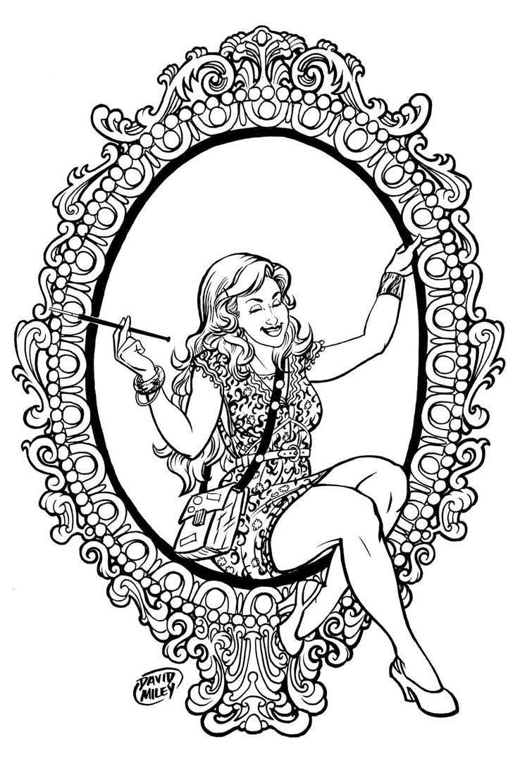 Dame of Frames INKS by DAVIDGMILEY